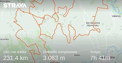 La Monsterrato, Percorso Eliso Rivera Randonnèe, km 230